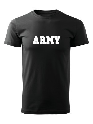 AKCE Tričko ARMY - černé, S