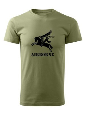 AKCE Tričko British Airborne Pegasus - olivové, XXL