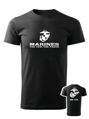 AKCE Tričko EGA Marines EST. 1775 - černé, L