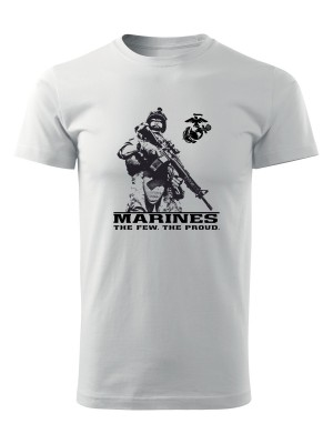 AKCE Tričko EGA Marines The Few The Proud 2 - bílé, L