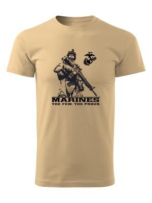 AKCE Tričko EGA Marines The Few The Proud 2 - pískové, S