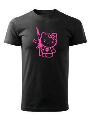 AKCE Tričko Hello Kitty Punisher Kalashnikov - černé, S