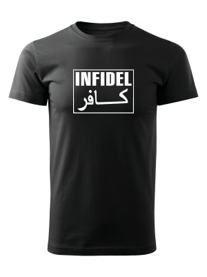 AKCE Tričko I'M THE INFIDEL YOUR IMAM WARNED YOU ABOUT - černé, XXXL