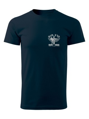 AKCE Tričko IDF Krav Maga - SIMPLE - námořní modrá, XXL