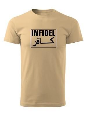 AKCE Tričko INFIDEL - pískové, XL