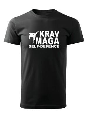 AKCE Tričko Krav Maga - self defence fighter - černé, S