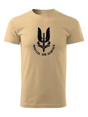 AKCE Tričko SAS Special Air Service - pískové, M