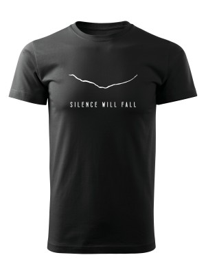 AKCE Tričko Silence Will Fall - černé, M
