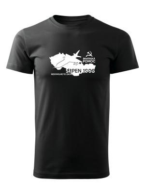 AKCE Tričko SRPEN 1968 - bratrská pomoc - černé, XL