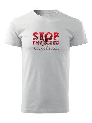 AKCE Tričko STOP THE BLEED - bílé, M