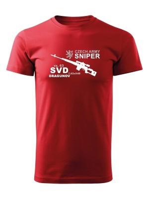 AKCE Tričko SVD DRAGUNOV CZECH ARMY SNIPER - červené - S