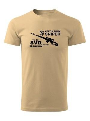 AKCE Tričko SVD DRAGUNOV CZECH ARMY SNIPER - pískové, S