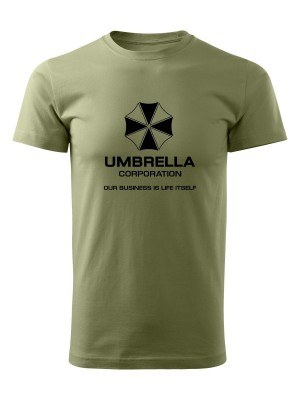 AKCE Tričko Umbrella Corporation - olivové, L