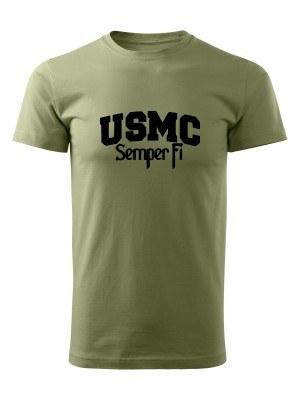 AKCE Tričko USMC Semper Fi - olivové, XL
