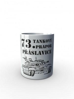 Bílý hrnek 73. tankový prapor - T-72M4 CZ