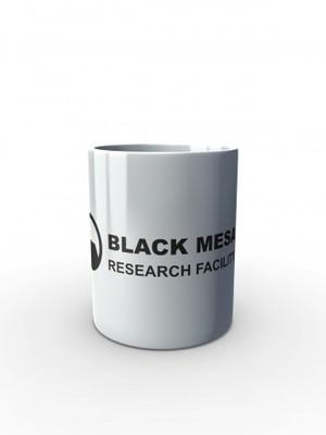 Bílý hrnek Black Mesa Research Facility Line