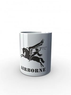 Bílý hrnek British Airborne Pegasus