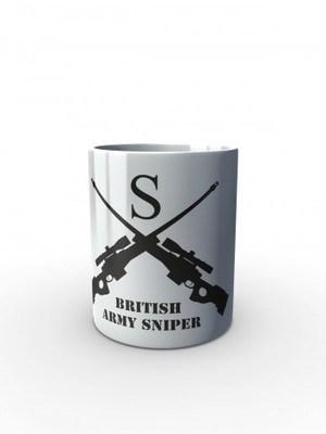 Bílý hrnek BRITISH ARMY SNIPER