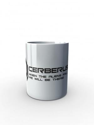 Bílý hrnek CERBERUS