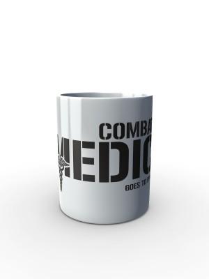 Bílý hrnek Combat Medic - GOES TO PPVB