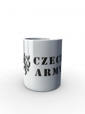 Bílý hrnek Czech Army Lion