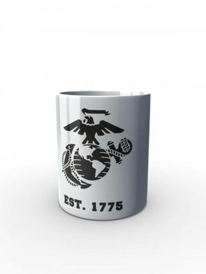 Bílý hrnek EGA Marines EST. 1775
