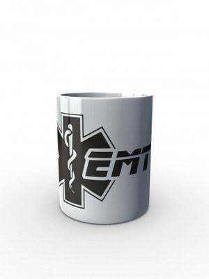 Bílý hrnek EMT Emergency Medical Technician