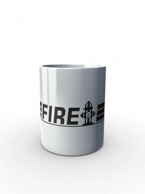 Bílý hrnek FIRE