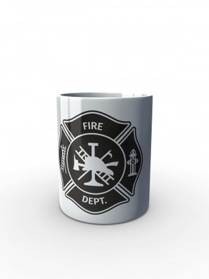 Bílý hrnek FIRE DEPT