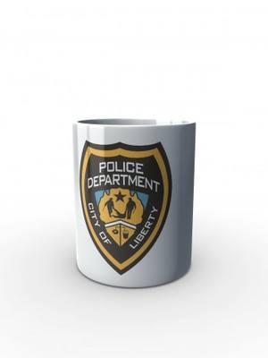 Bílý hrnek GTA Police Department City of Liberty