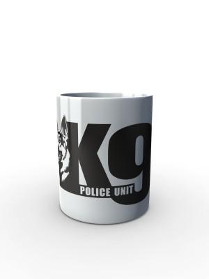 Bílý hrnek K9 Police Unit