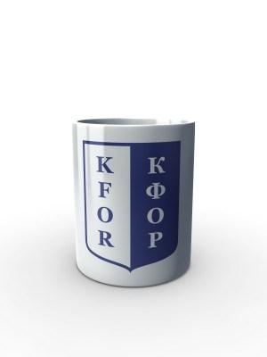 Bílý hrnek KFOR