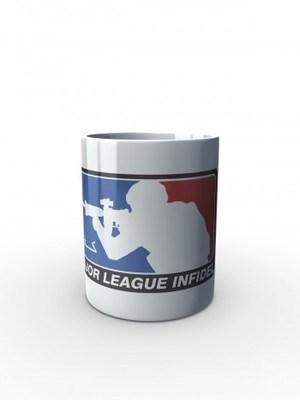 Bílý hrnek Major League Infidel