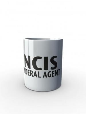Bílý hrnek NCIS Federal agent