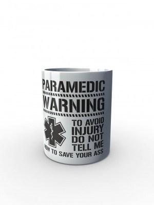 Bílý hrnek PARAMEDIC WARNING