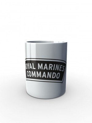Bílý hrnek ROYAL MARINES COMMANDO