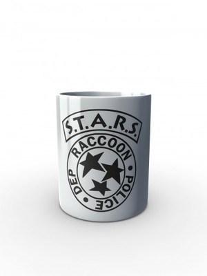 Bílý hrnek S.T.A.R.S. R.P.D. Special Tactics and Rescue Service
