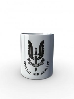 Bílý hrnek SAS Special Air Service