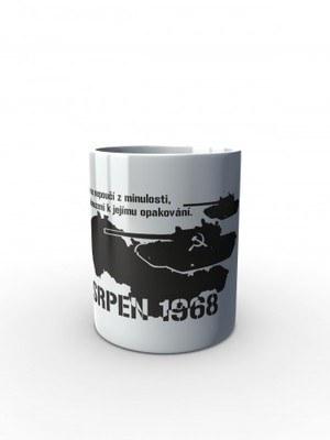 Bílý hrnek SRPEN 1968