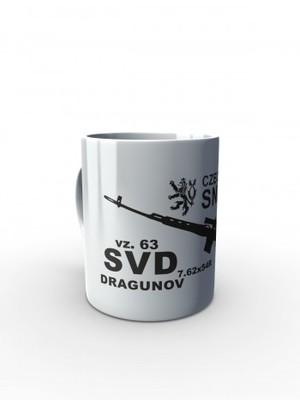 Bílý hrnek SVD DRAGUNOV CZECH ARMY SNIPER