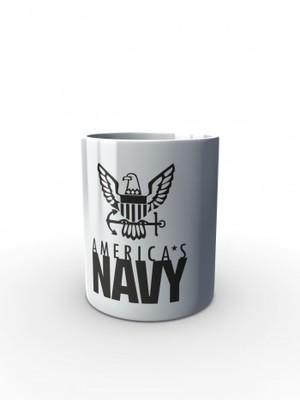 Bílý hrnek U.S. NAVY Americas Navy Eagle