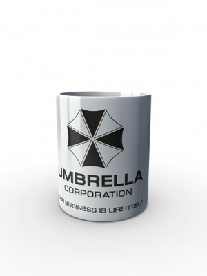 Bílý hrnek Umbrella Corporation