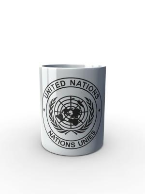Bílý hrnek UN