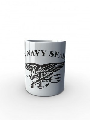 Bílý hrnek United States NAVY SEALS SIMPLE
