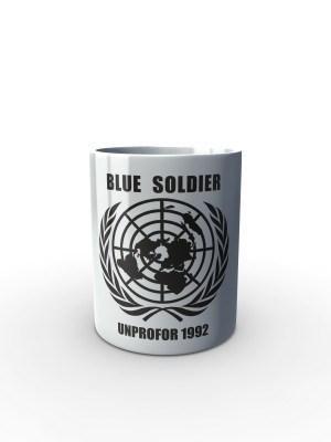 Bílý hrnek UNPROFOR - BLUE SOLDIER 1992