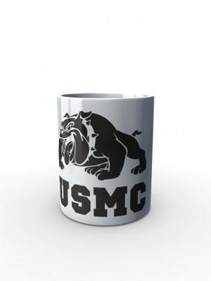 Bílý hrnek USMC Devil Dogs