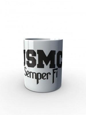 Bílý hrnek USMC Semper Fi