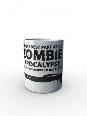 Bílý hrnek Zombie Apocalypse Shotgun FORT