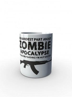 Bílý hrnek Zombie Apocalypse vz. 58 / CZ 858 Tactical
