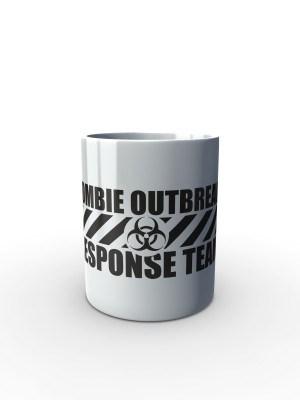 Bílý hrnek Zombie Outbreak Response Team